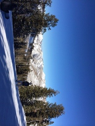 Bluebird day at solitude with very few people