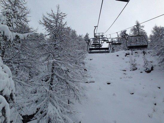 Just snowed!