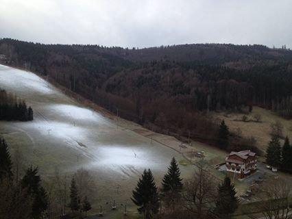 Ski centrum Košútka, 11.12.2014 - Začalo sa zasnežovať - © facebook