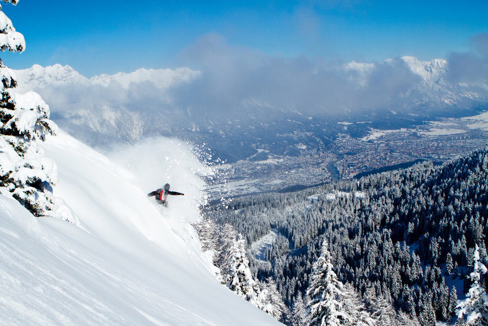 Bis zu 70 Prozent Gefälle und eine der steilsten Skirouten Europas - © Innsbruck Tourismus