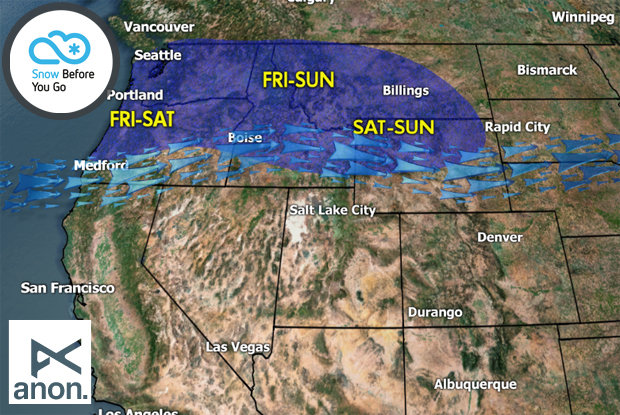 Snow Before You Go: Northern Rockies snow luck continues. - © Meteorologist Chris Tomer