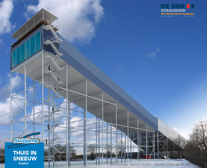 Mogelijke baanverlenging Skidôme Rucphen achterzijde - © Skidôme Rucphen - wintersporters mogen uitkijken naar een vernieuwd en groots wintersportwalhalla