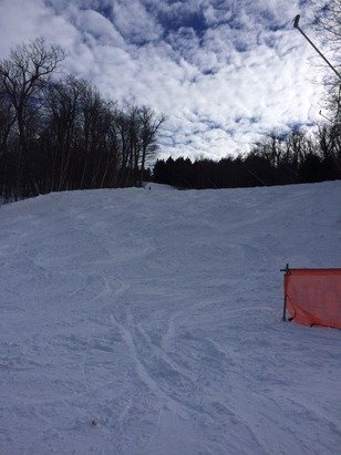 Fantastic skiing yesterday, the 28th, old school New England moguls everywhere! Classic