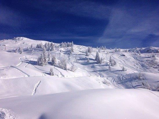 Beautiful sunny skiing this morning!