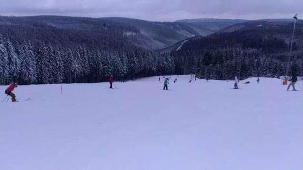 super Skiwetter, gute Piste