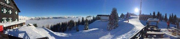 Super Bedingungen für einen schönen Skitag.