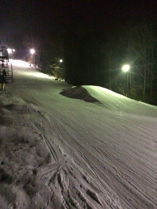 First time here. Pleasantly surprised. Not crowded. Some nice runs. Kids had a blast and it's only an hour from home. Will be back for another Sunday night ski. Family night. Only $20. 4-9pm. Can't beat it.