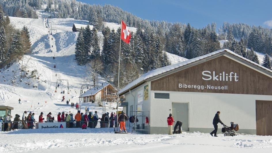 Das Skigebiet zieht einige Skibegeisterte an - © Skilift Neusell