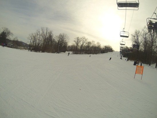 Great skiing conditions yesterday.