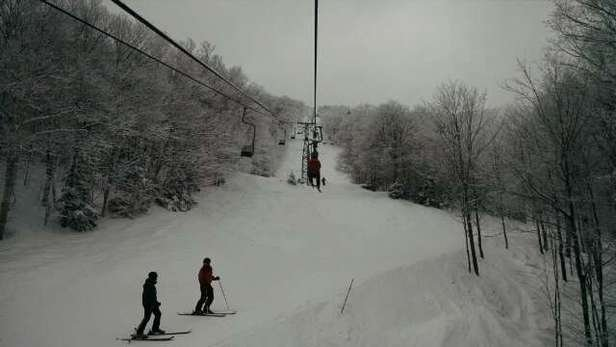 Epic day at MRG! Unreal conditions. Knee deep in the woods everywhere. Wow! Ski It If You Can. If you can, get here now!