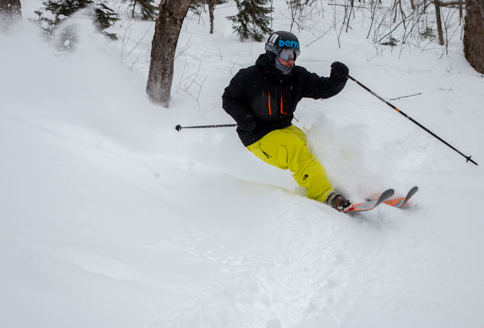 Powder skis necessary at Killington.  - © P.J. McDaniel/Killington Resort