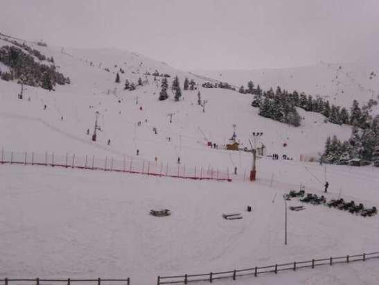 neige de la veille et du matin. très bien même si on est une quiche sur des skis :-)