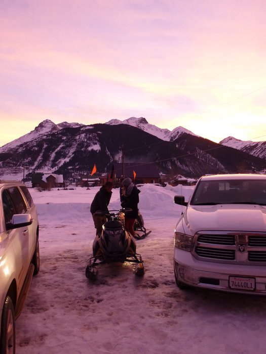 Traveling Silverton style often involves a sled, truck, fat tire bike or of course, skis. - © Krista Crabtree