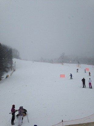 Great day to ski, the snow is coming down.
