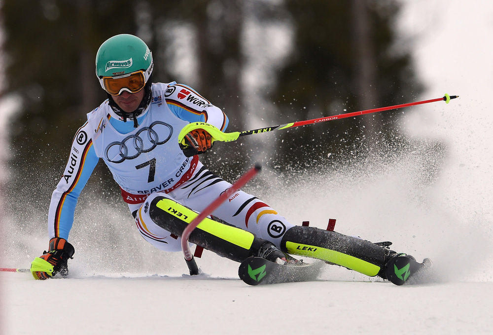 Felix Neureuther fuhr im WM-Slalom 2015 zu Bronze - © Audi Media-Service