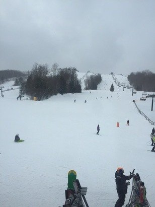 Great conditions. Small crowds. Little bit of new snow too.
