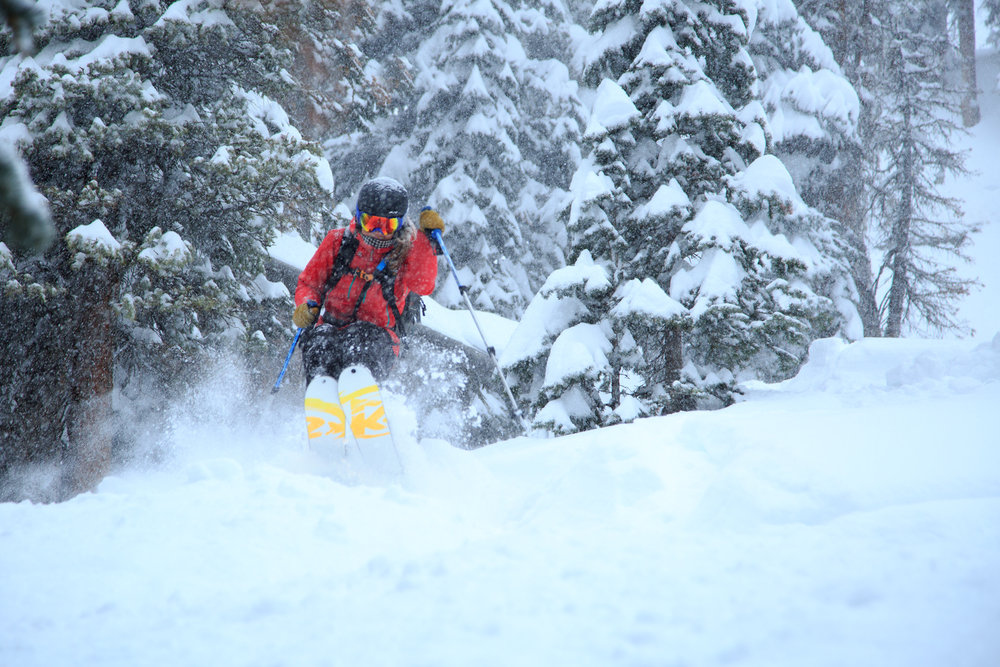 "Wolf Creek tallied a storm total of 42"" after the storm. Tips up! - © Jason Lombard / Wolf Creek Ski Area"