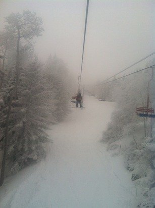 Great pow day at sandia today and the quarry is buried lol