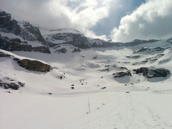Gstaad - Glacier 3000 - Lots of packed powder, variable visability. Totally worth it! - © dreybeds