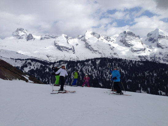 Le Grand Bornand - Yesterday in the slope - stunning day - © SohoCorp iPhone