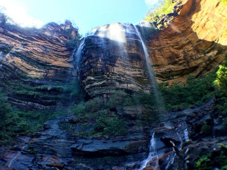 Die Wentworth Falls in den Blue Mountains bei Sydney - © Florian Reuter   Julia Mohr