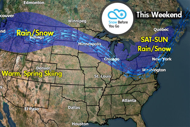 Snow Before You Go: Two Weekend Storms Rolling In - © Meteorologist Chris Tomer