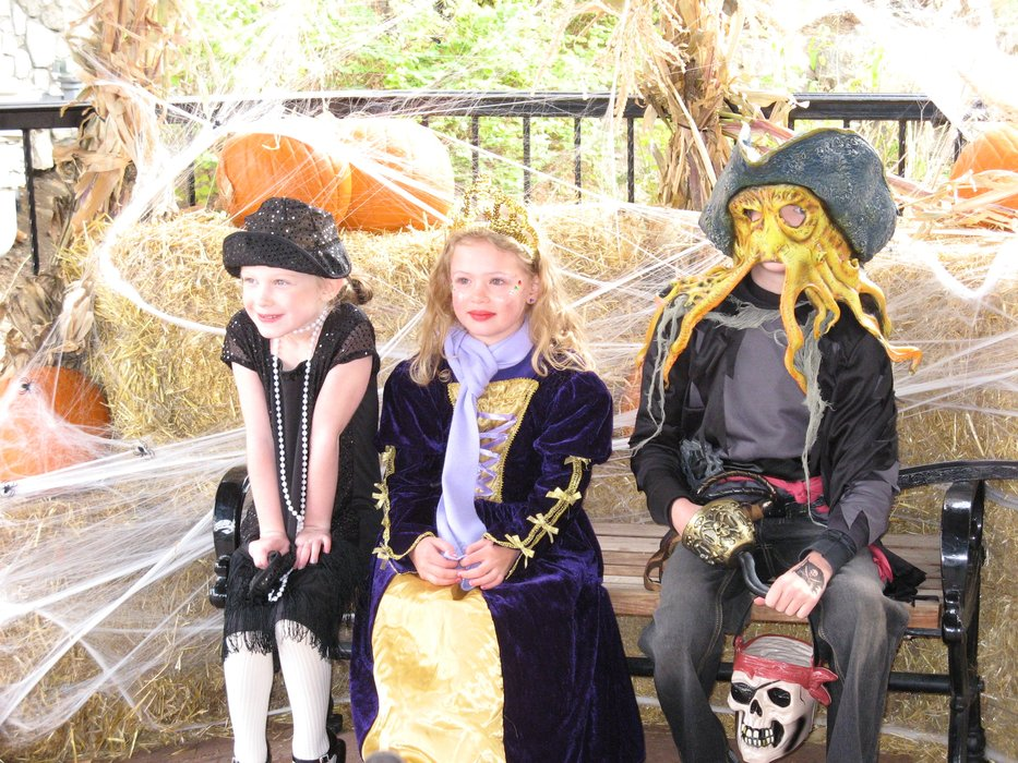 Kids dressed up for Halloweenfest at Beaver Creek, CO.