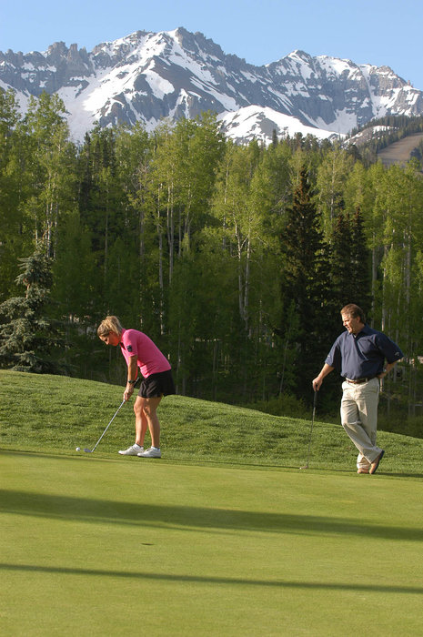 Golfers at the Telluride Golf Course.