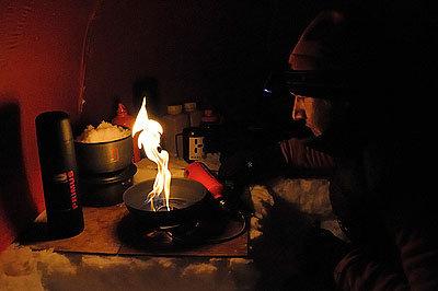 Kochen in der Kälte - © Hülle