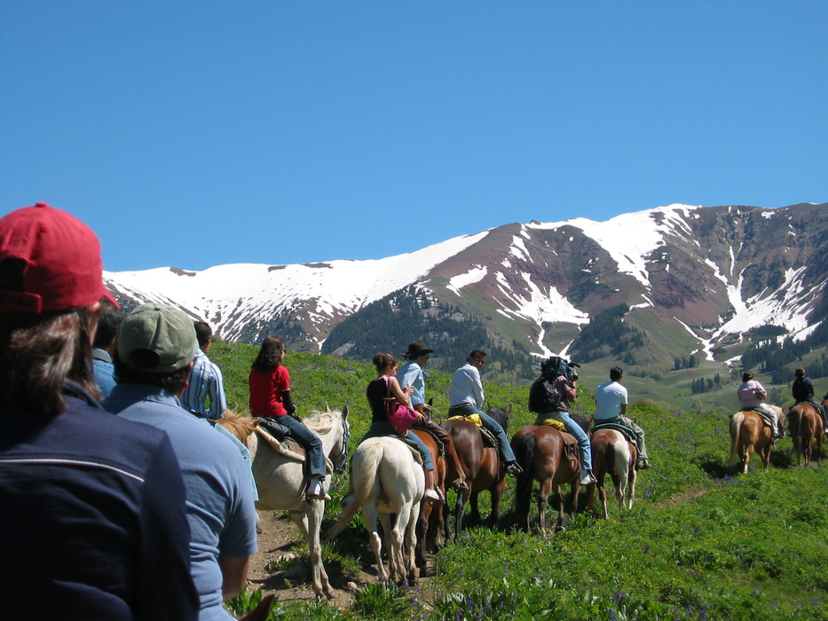 Horseback riders at FAM Fantasy Ranch in Gunnison-Crested Butte.