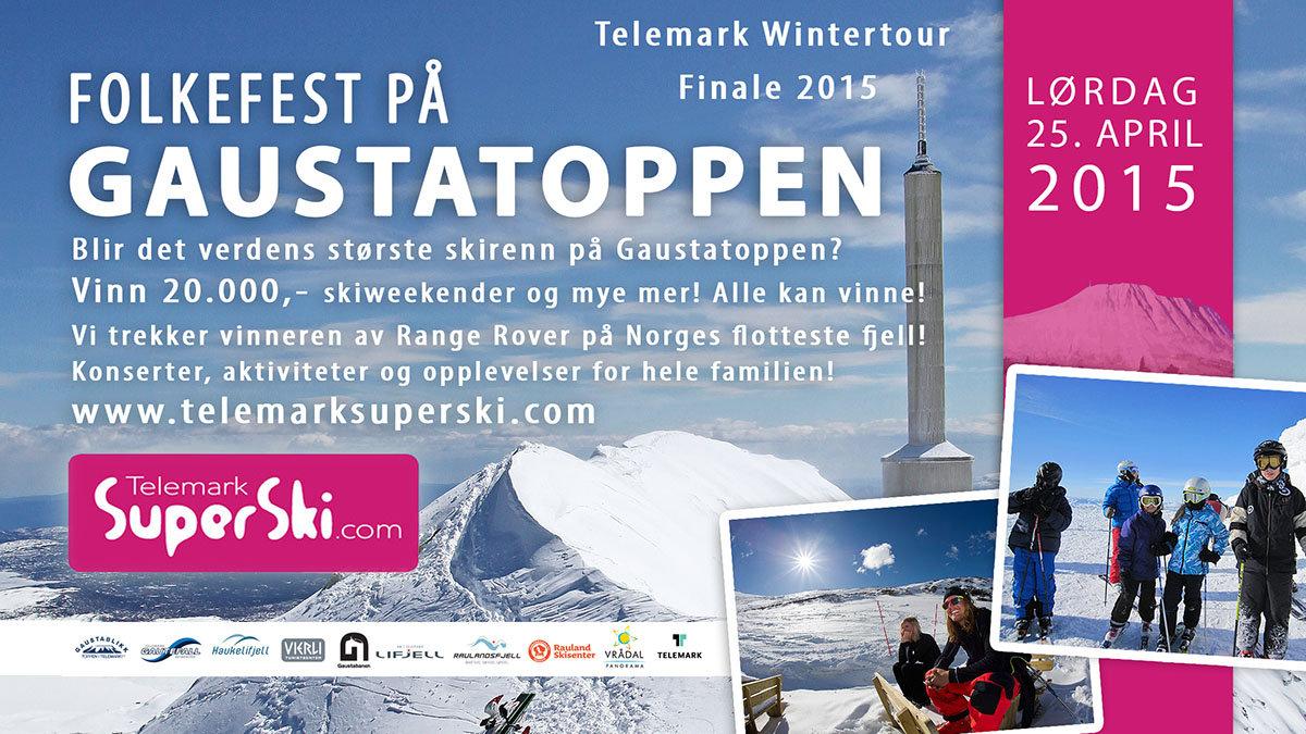 Folkefest på Gaustatoppen - © Verdens største skirenn på Gaustatoppen?
