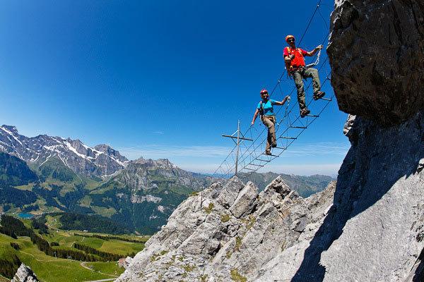Klettersteig Brunnistoeckli in Engelberg - © Iris Kürschner