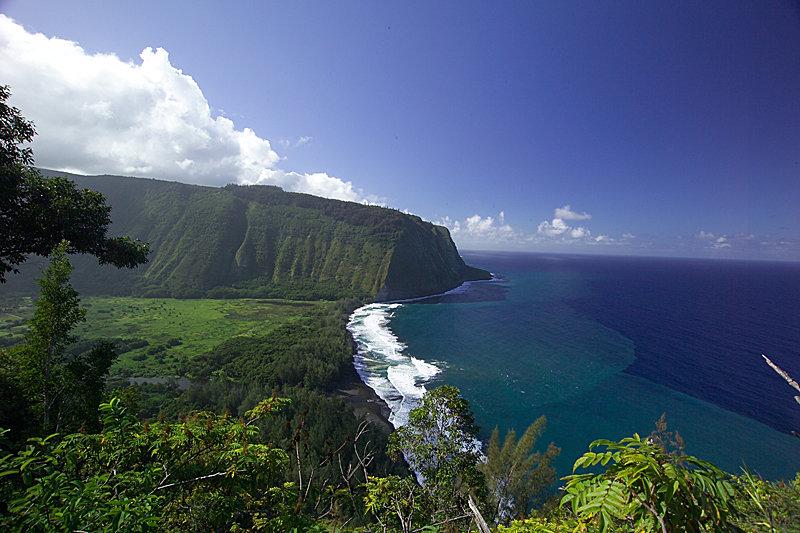 Waipio Valley Übersicht - © Hawaiis Big Island Visitor Bureau (BIVB)
