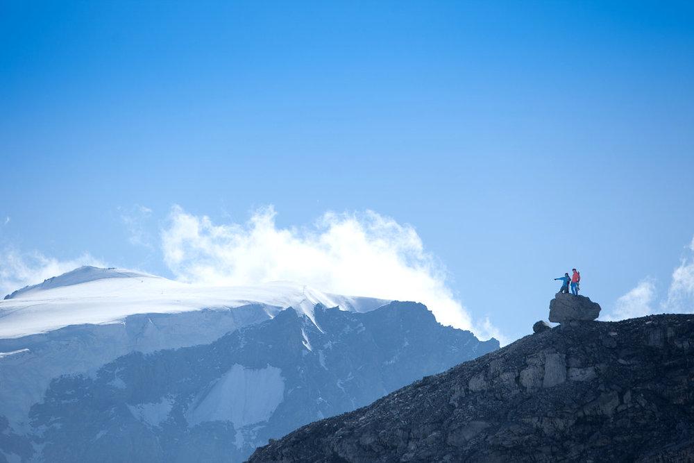 Passo Stelvio Pirovano, Panorama Ortles