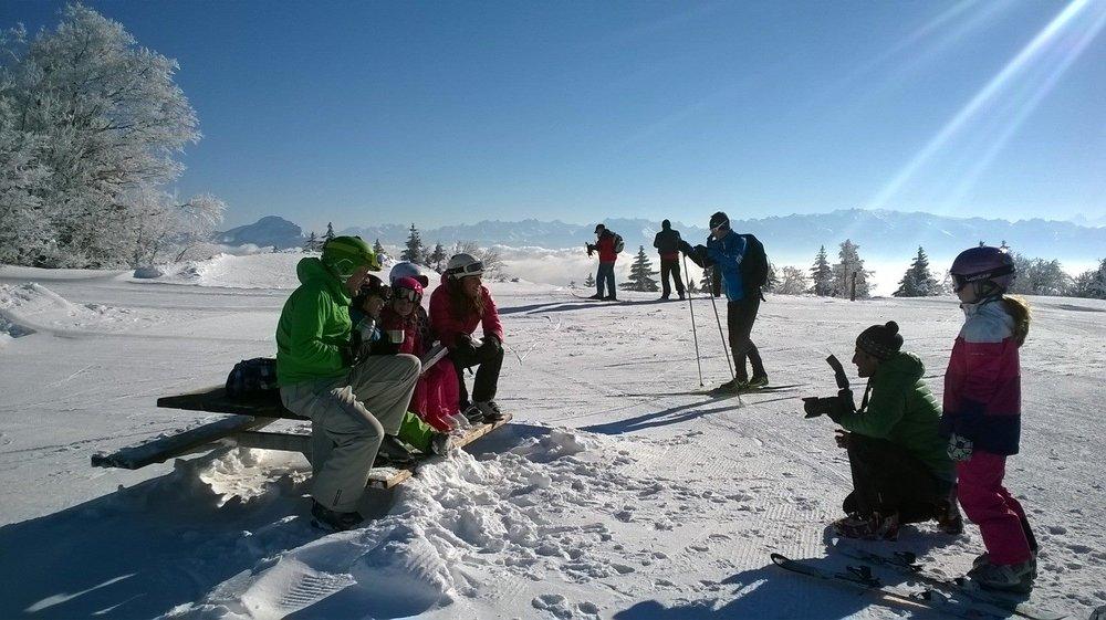 Conditions parfaites sur les pistes de ski de fond d'Autrans - © Autrans Méaudre Tourisme
