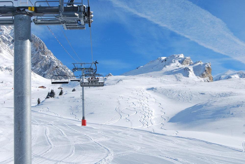 Conditions parfaites sur le domaine skiable de Pralognan la Vanoise - © Office de Tourisme de Pralognan la Vanoise