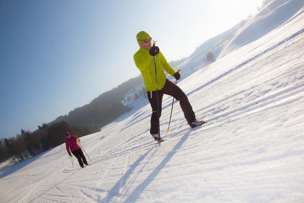 Ski de fond sur le domaine du massif des Brasses - © Station du Massif des Brasses