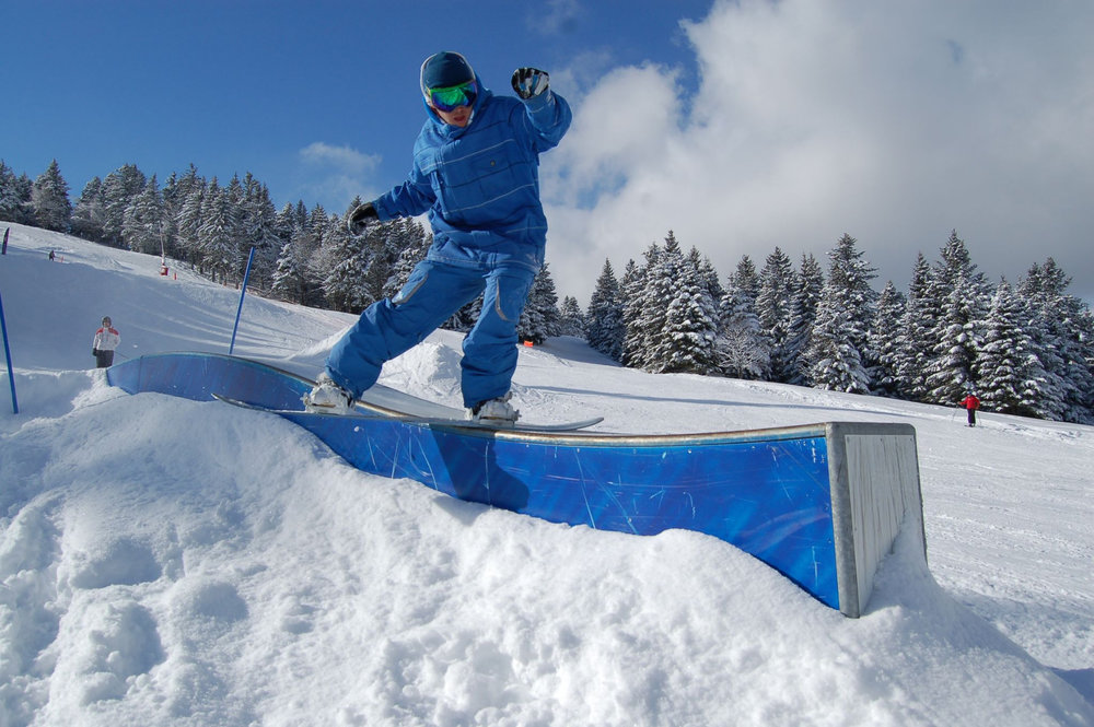 Session freestyle sur le snowpark du Schnepfenried