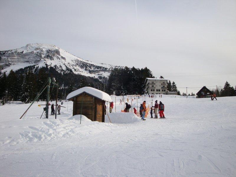 Front de neige et téléski débutant du Col de Porte - © Station de ski du Col de Porte