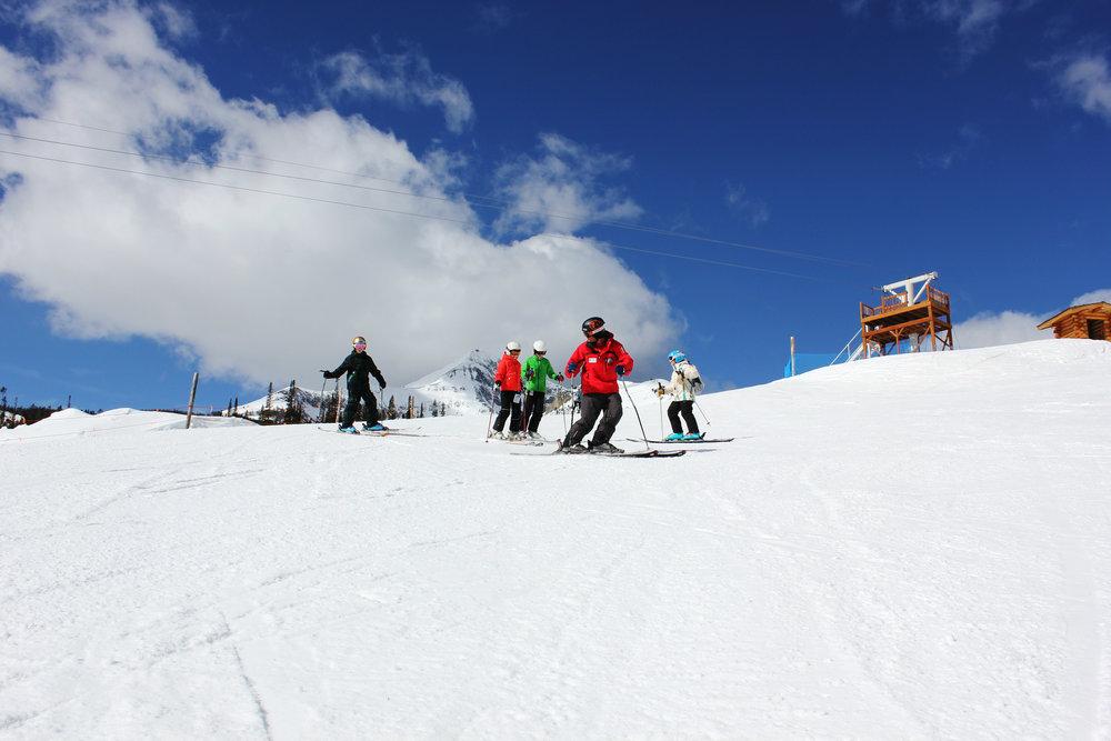 Big Sky ski school.  - © Michel Tallichet