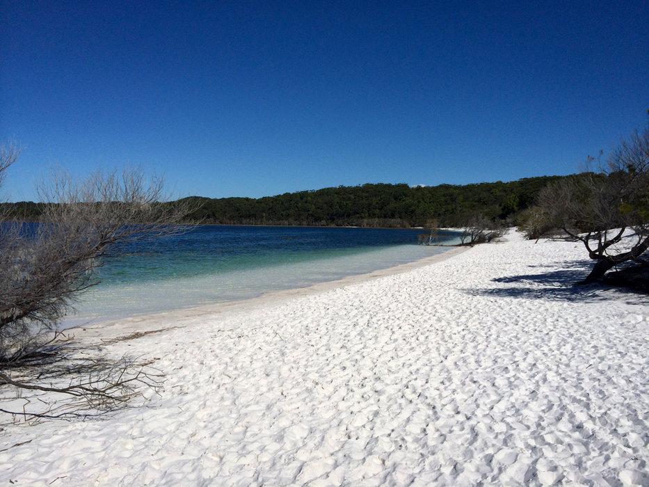 Puderweißer Sand am Lake McKenzie (Fraser Island) - © Julia Mohr   Florian Reuter