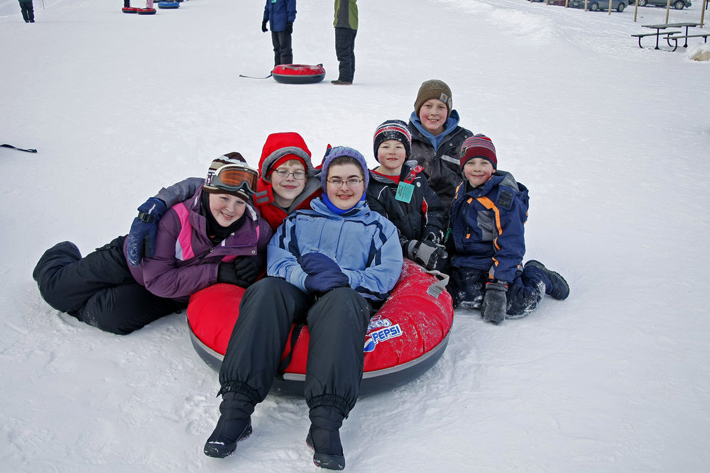 Group of tubers at Wild Mountain, MN