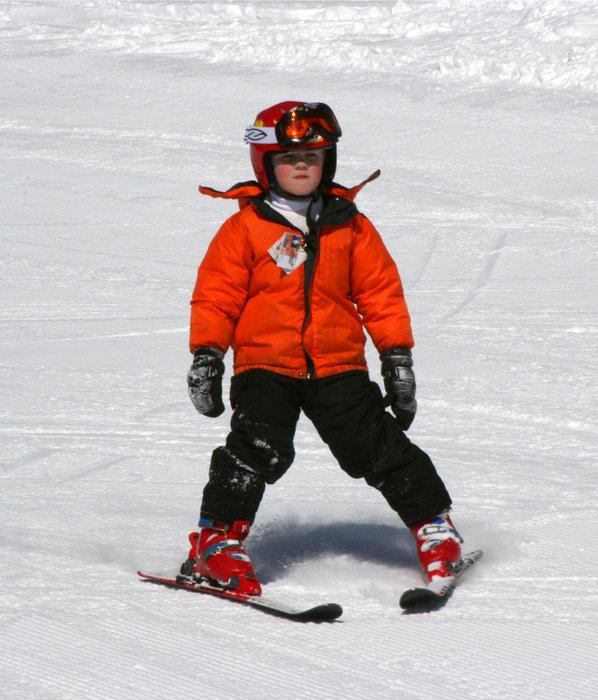 Kid skiing at Wild Mountain, MN