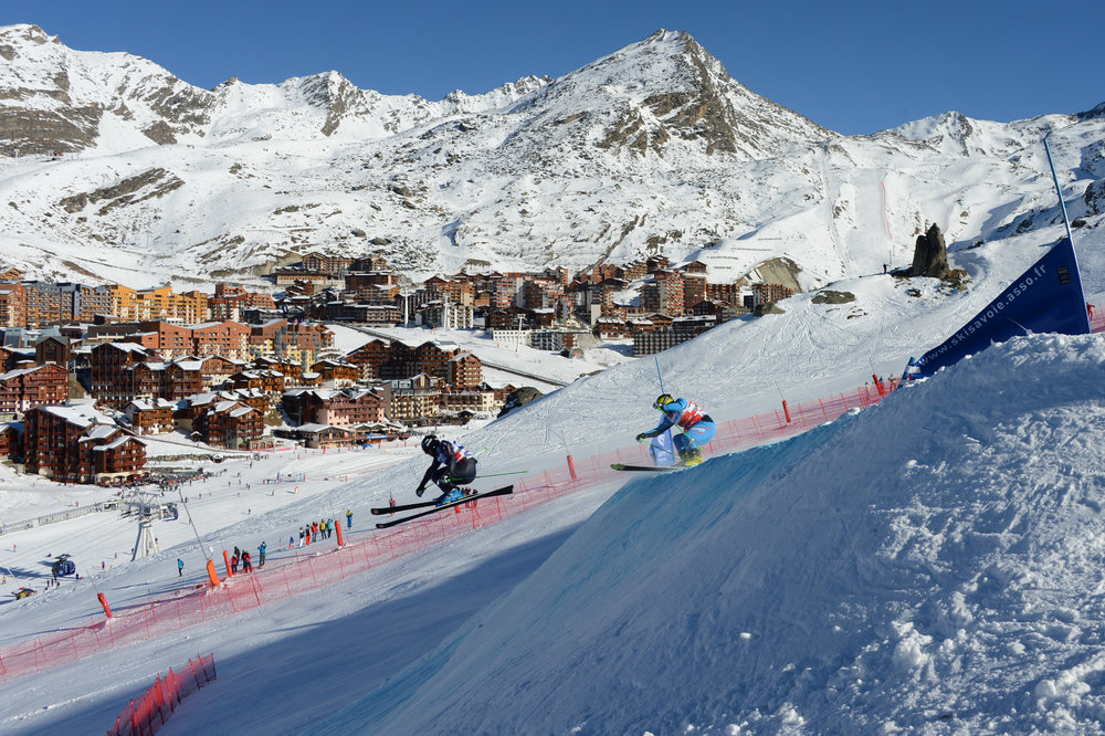 Prêt à relever le défi et à vous élancer sur la piste de skicross de Val Thorens pour tenter de battre le record de Jean-Frédéric Chapuis ? - © Gilles Baron
