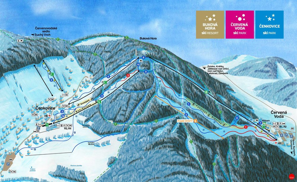 Skiresort Buková hora se v sezóně 2015/16 rozrůstá o dvě další sjezdovky: Svitavská a Vigona - © FB SKI PARK Červená Voda