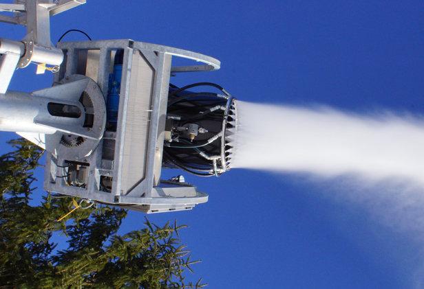 Two new SMI Super PoleCat tower mounted snow machines - © Ski Shawnee, Inc.