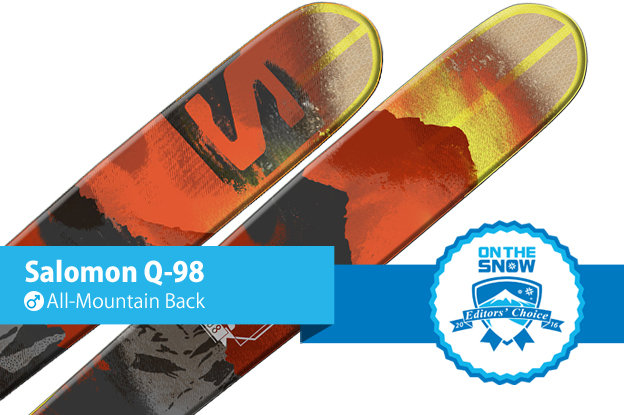 Salomon Q-98: Editors' Choice, Men's All-Mountain Back