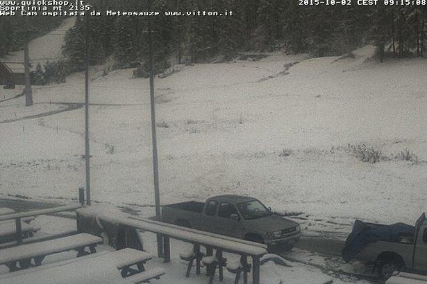 Sauze d'Oulx, Neve fresca 02.10.15 - © Vialattea webcam