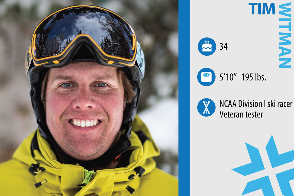 "Tim Witman. Job in real life: Project Manager with the Army Corps of Engineers. Who inspires you when it comes to skiing? ""The current world cup racers. It is amazing the high level of skill they have and how fast they go."" - © Liam Doran"