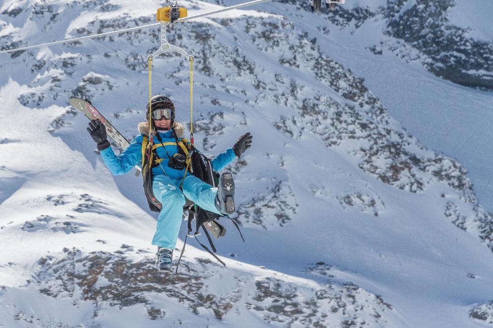 Serez-vous assez courageux pour vous lancer dans le vide sur la haute tyrolienne du monde ? - © C. Cattin / OT Val Thorens